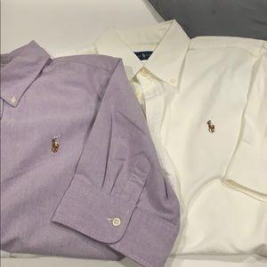 Bundle of 2 Ralph Lauren button down shirts